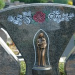 "Grabstein Ornament ""Die Rose"""