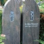 Grabstein Symbol Aesculapstab für den Arzt